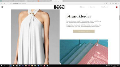 Tipps im Wolford Onlineshop zeigen, wie man sich modisch chic stylen kann. Screenshot: Wolford