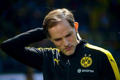 Trainer Thomas Tuchel sieht sich beim BVB Kritik ausgesetzt. Foto: afp