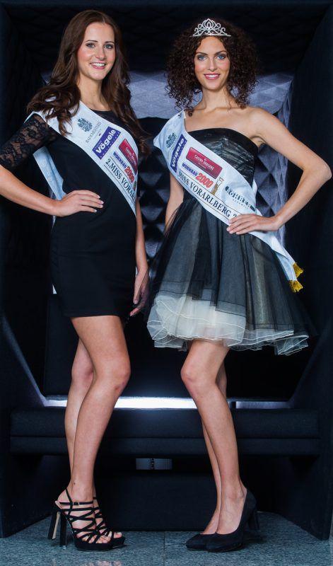 Vizemiss Jennifer (l.) und Miss Sophie kämpfen bei der Miss-Austria-Wahl in Baden um die Krone. Foto: VN/Steurer