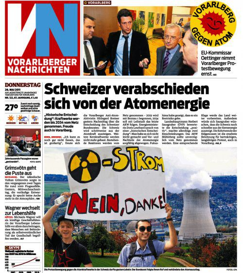 VN-Titelseite vom 26. Mai 2011.