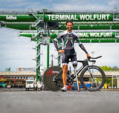 Weltcupdebütant Martin Hutter erfüllt sich mit der Teilnahme an der Transalp einen Lebenstraum. foto: holzer