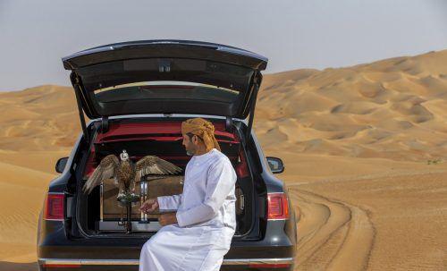 Wünsche betuchter Kunden: Im Kofferraum kann man einen Sitzblock für Falken aufstellen. Foto: Werk