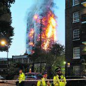 Verheerendes Inferno im Herzen von London