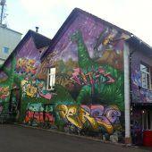 Junge Künstler lassen Fassade neu erstrahlen