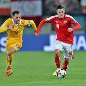Moldau bleibt nach 2:2 Letzter