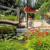 Offene Gartentüren in Lauterach