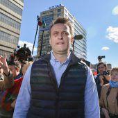 Kreml-Kritiker Nawalny vor Demo verhaftet