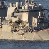 Sieben Seeleute tot aus Kriegsschiff geborgen