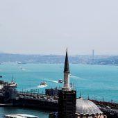 Plankton färbt Bosporus ein