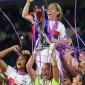 Und wieder jubeln die Lyon-Spielerinnen