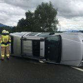 Mehrere Verletzte bei Unfall auf A 14