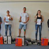 Vorarlbergs Fitnessbetreuer ermittelten ihre besten Lehrlinge