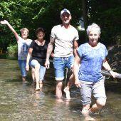 Feier bei der Kobler Wassertrete
