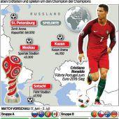 Fußball-Welt ist zu Gast im WM-Land Russland