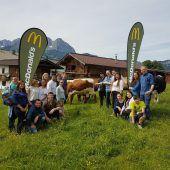 Auf der McDonalds Rinder-Flagship-Farm