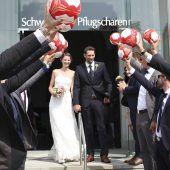 Kaiserwetter für den Kapitän: Dominik Schmid hat geheiratet