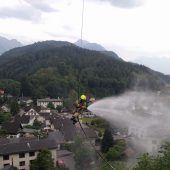 Feuer unter der Rankweiler Basilika