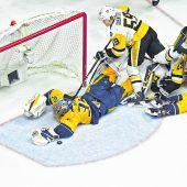 Nashville ist gegen die Penguins gleichauf