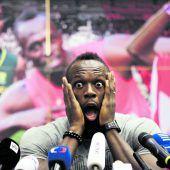 Am Ende heißt es für Usain Bolt alle Neune