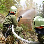 Jagdberger Wehren sind Feuer und Flamme für die Brandbekämpfung