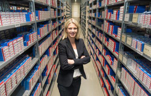 Karin Fink-Loos bietet ihren Kunden rund 25.000 Artikel und einen 24-Stunden-Service an. VN/Stiplovsek