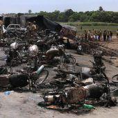 Mehr als 150 Tote nach Tanklaster-Explosion