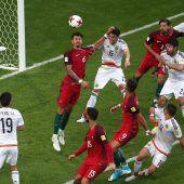 Mexiko ringt Europameister Remis ab