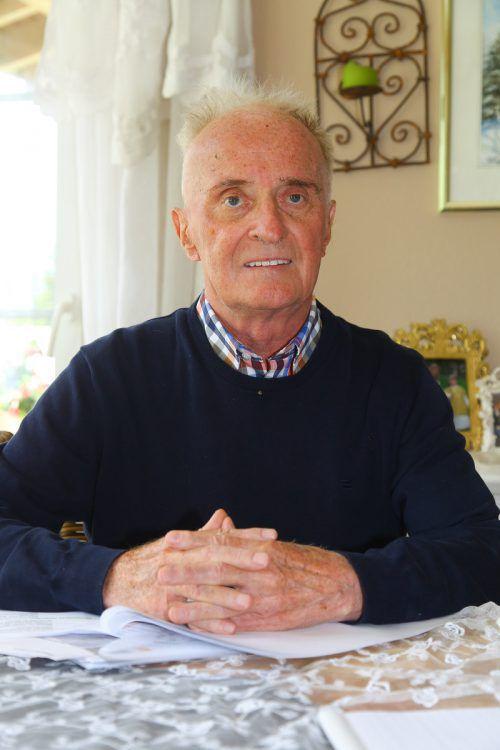 Ernst Fritz prägte die Gemeindepolitik über Jahrzehnte.VN/HB