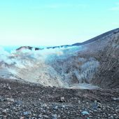 Ein Bad im warmen Schlamm des Vulkans