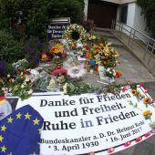 Beispiellose Ehrung für verstorbenen deutschen Altkanzler Helmut Kohl