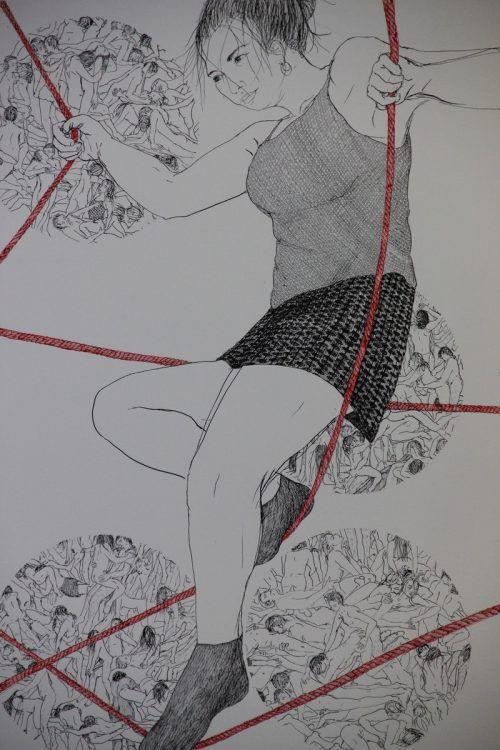Und die zarten Zeichnungen von Olga Georgieva warten auch mit Überraschungen auf. Fotos:AG