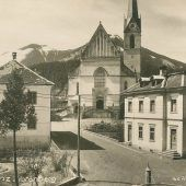 vorarlberg einst und jetzt. Kirchplatz in Frastanz