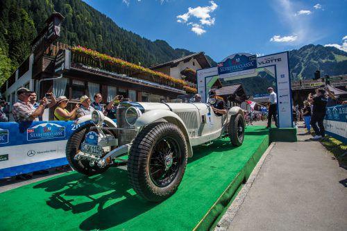Historische Boliden sind anlässlich der Silvretta Classic in den kommenden Tagen auf den heimischen Straßen unterwegs. VN/Steurer