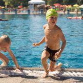 Training für den Kids Aquathlon