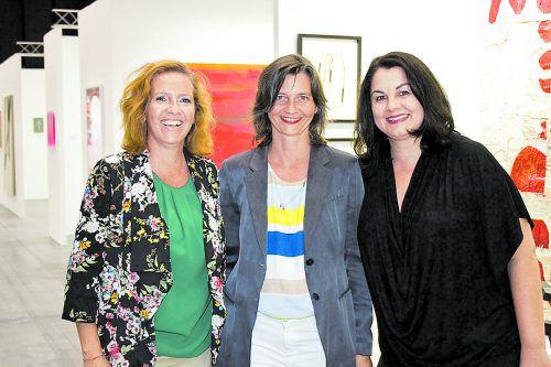 Art-Bodensee-Team: Mirjam Hollenstein (l.), Projektleiterin Isabella Marte und Tatjana Schmid.