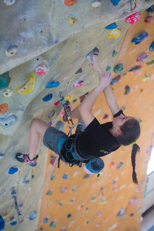 Auch klettern geht jetzt mit der Schulsportkarte.Foto: VN/ps