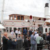Prominente Gästerunde genoss Schiffsausfahrt
