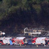Toter Busfahrer nach Inferno unter Verdacht