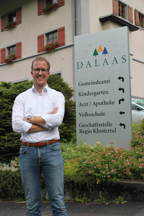 Bürgermeister Christian Gantner leitet seit zwölf Jahren die Geschicke der Gemeinde Dalaas.Foto: VN/js