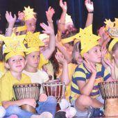 Trommelwirbel in der Volksschule Altach