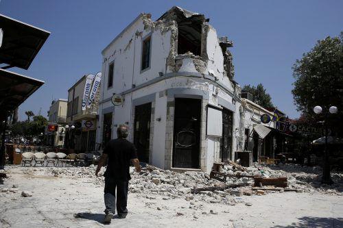 Das Beben beschädigte vor allem die bei Touristen beliebte Altstadt von Kos. Foto: REuters