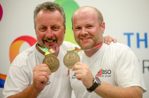 Das Boccia-Duo Günter Baur (l.) und Philipp Wolfgang ist nach dem Gewinn der Bronzemedaille bereits wieder zurück im Ländle. Foto: gepa