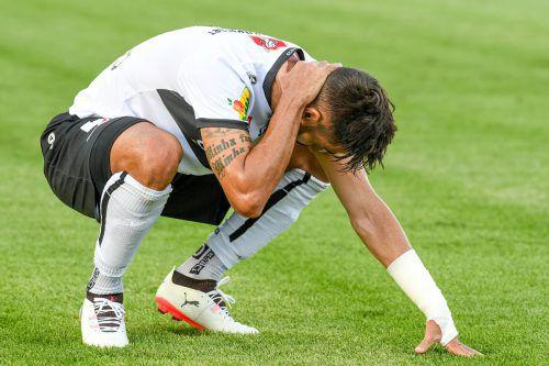 Das Ergebnis war eine richtige Watschn und tat weh, doch Lucas Galvão und Co. glauben weiter an das Weiterkommen.Fotos: gepa/3