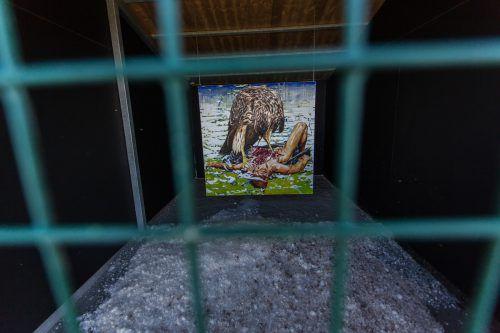Das Werk von Leissing zeigt einen menschenfressenden Vogel.