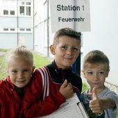 Kinder im Olympiafieber