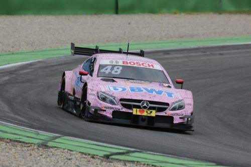 Der Mercedes-Stern (hier Edoardo Mortara) wird nur noch heuer und im nächsten Jahr in der DTM zu sehen sein. Foto: noger