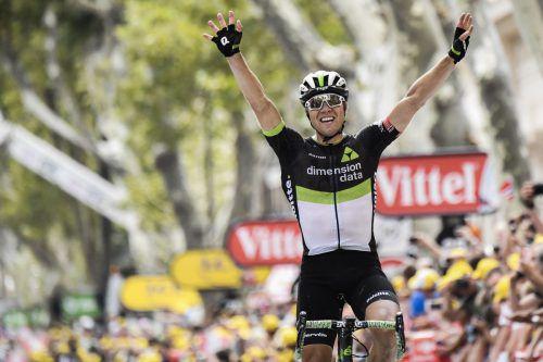 Der Norweger Edvald Boasson Hagen hat die mit 222,5 km längste Etappe der diesjährigen Tour de France für sich entschieden.Foto: AFP