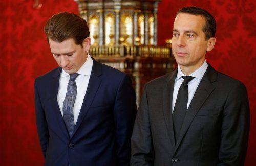 Die beiden Parteichefs Sebastian Kurz (ÖVP, l.) und Christian Kern (SPÖ) wollen noch einiges abarbeiten, bevor am 15. Oktober gewählt wird. FOTO: APA