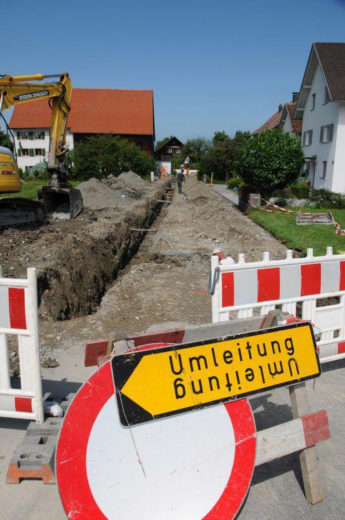 Die fast 100 Jahre alten Wasserleitungen werden erneuert. Foto: ajk
