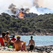 Kampf gegen Brände in Frankreich und Korsika